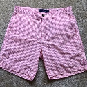 Vineyard Vines Men's Pink Gingham Breaker Shorts